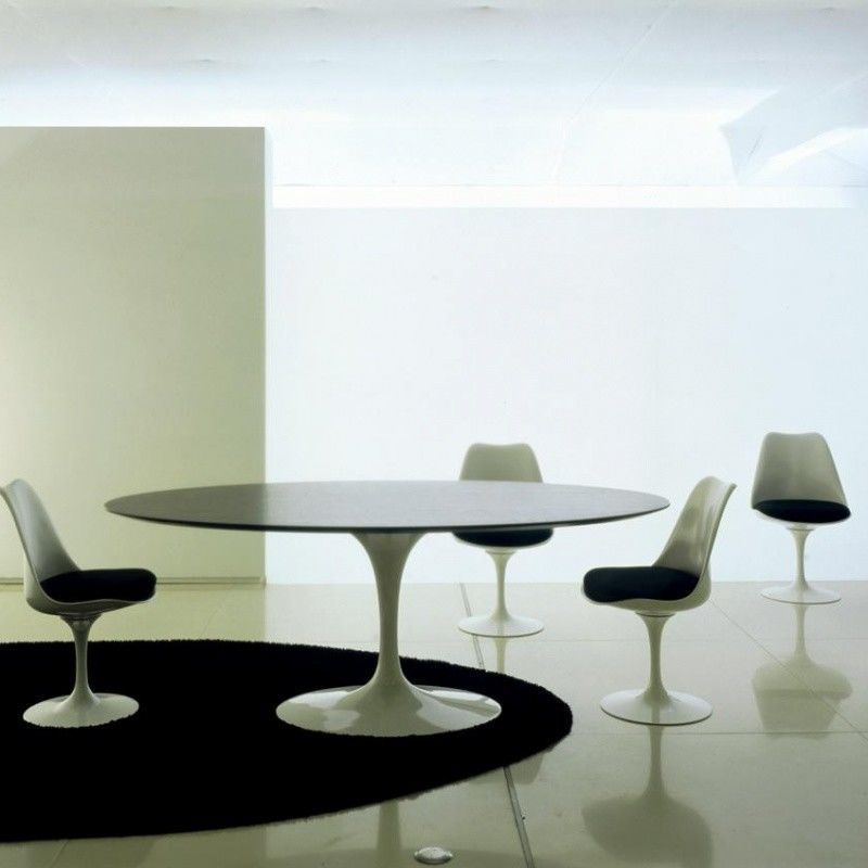 Knoll international saarinen tisch oval ambientedirect - Tisch oval weiay ...