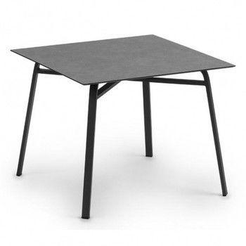 Weishäupl - Ahoi Gartentisch - HPL steingrau/Gestell grau metallic/L x B x H: 90 x 90 x 73cm
