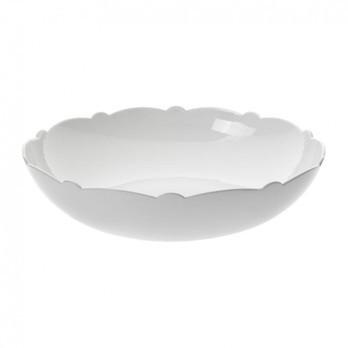 Alessi - Dressed Salatschüssel - weiß/Reliefdekor