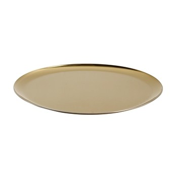 HAY - HAY Serving Tray Serviertablett - gold/Ø28cm