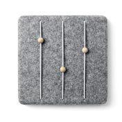 Menu - Feutre - Elément modulable - Porte lettre - gris/Porte-lettre/30x30cm