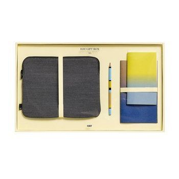HAY - HAY Geschenkbox Office Large 4tlg. - verschiedene/4 tlg./Tablet-Tasche, 2 Notizbücher S/M, Bleistift