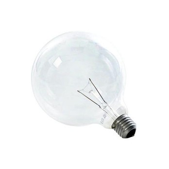 QualityLight - AGL E27 GLOBE G125 KLAR 25W - transparent/2700K/220lm/dimmbar