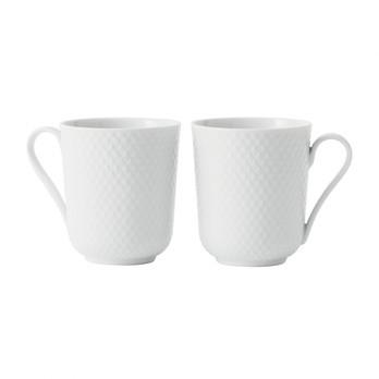 Lyngby Porcelæn - Rhombe Henkelbecher 2er Set