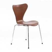 Fritz Hansen - Serie 7 Stuhl Leder vollgepolstert 46cm
