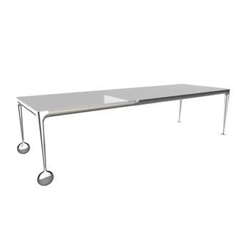 Magis - Big Will Esstisch/Schreibtisch ausziehbar - weiß/glänzend/L: 200-250-300cm/Gestell Aluminium poliert