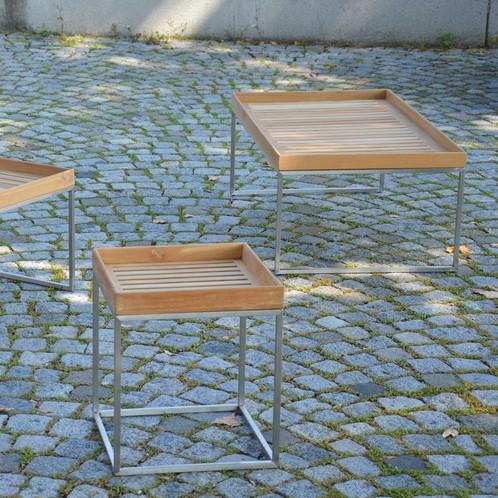 Jan Kurtz - Pizzo 110 Teakholz Garten-Beistelltisch