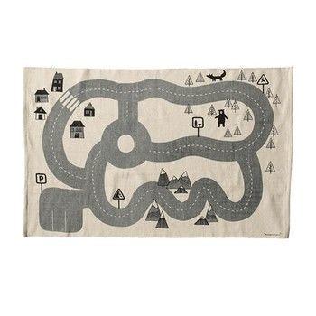 - Bloomingville Kinderteppich 150x100cm - weiß