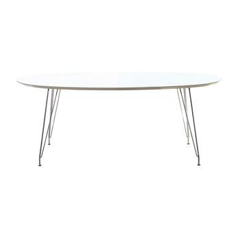 Andersen Furniture - DK10 Esstisch ausziehbar Beine Chrom - weiß/Laminat/LxBxH 190x110x72cm/Gestell chrom
