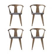 &tradition - In Between Chair SK2 gepolstert 4er Set