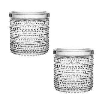 - Kastehelmi Weihnachtsgeschenk Set 2tlg. - transparent/in grauer Zinnbox/2 x Kastehelmi Vorratsglas/11,6 x 11,4 cm / 11,6 x 5,7 cm