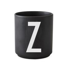 Design Letters - Design Letters Porzellanbecher N-Z Schwarz L