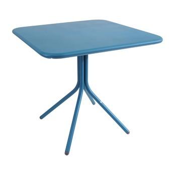 emu - Yard Lounge Table Outdoor 80x80cm - blue/aluminium/square/folding/LxWxH 80x80x74cm