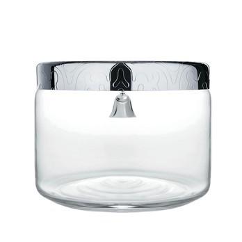 Alessi - Dressed Keksdose - transparent/Deckel edelstahl/Ø19cm