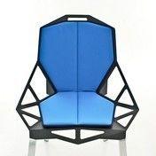 Magis - Chair One Sitzkissen mit Rückenlehne - hellblau/Stoff Kvadrat Gloss2/blauer Saum/75x41cm