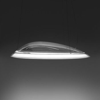 - Ameluna LED Pendelleuchte - transparent/Wärmeleiter/3000K/3276lm/CRI=90/H 15cm/Ø 75cm