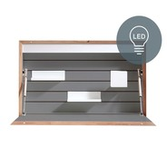 Müller Small Living - Flatbox Wall Secretary 71.7x12.3x43.1cm