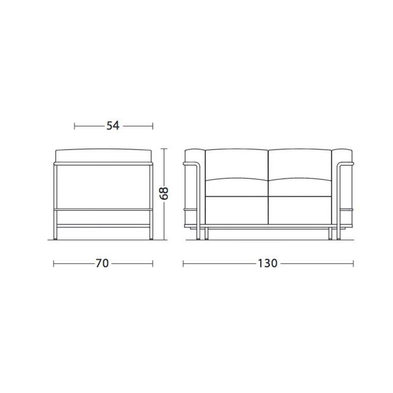 Cassina Le Corbusier Lc2 2 Sitzer Sofa Ambientedirect