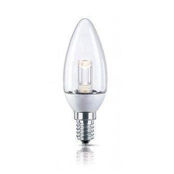- LED E14 Kerze 1,5 W klar  - klar/Energieeffizienzklasse a/Gewichteter Energieverbrauch 2 kW/1000 h