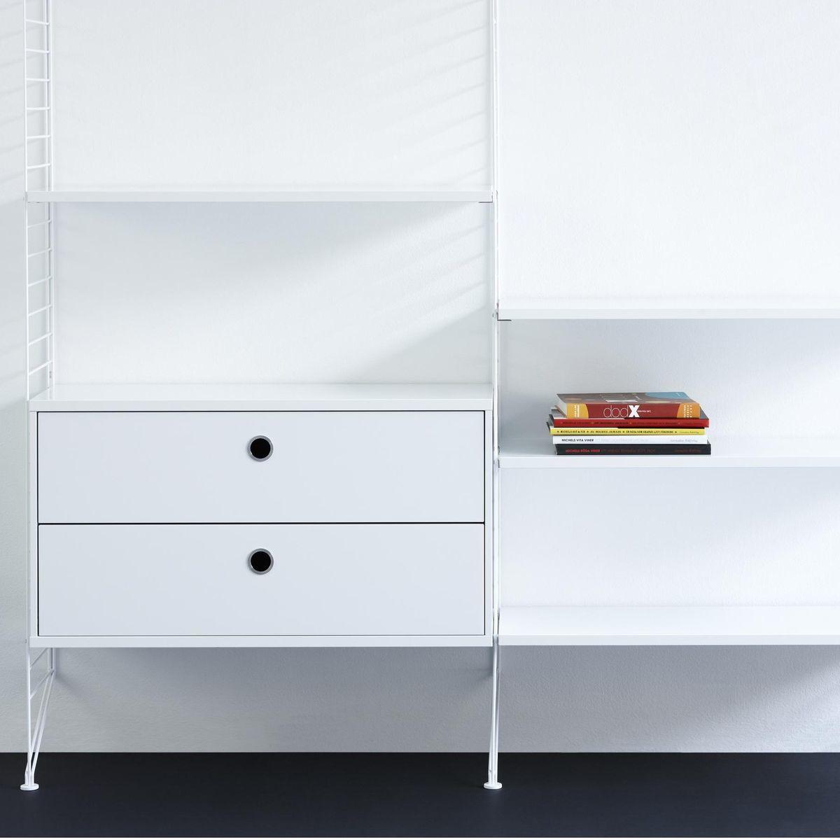 string h ngeschrank mit schubladen string. Black Bedroom Furniture Sets. Home Design Ideas