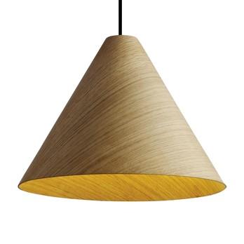HAY - 30degree LED-Pendelleuchte M - natur/furniert/mit Kabelset/H 25cm/Ø 33.5cm
