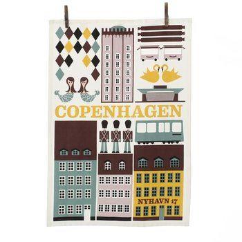 ferm LIVING - Copenhagen Geschirrtuch - multicolor/waschbar bei 40°C/70x50cm