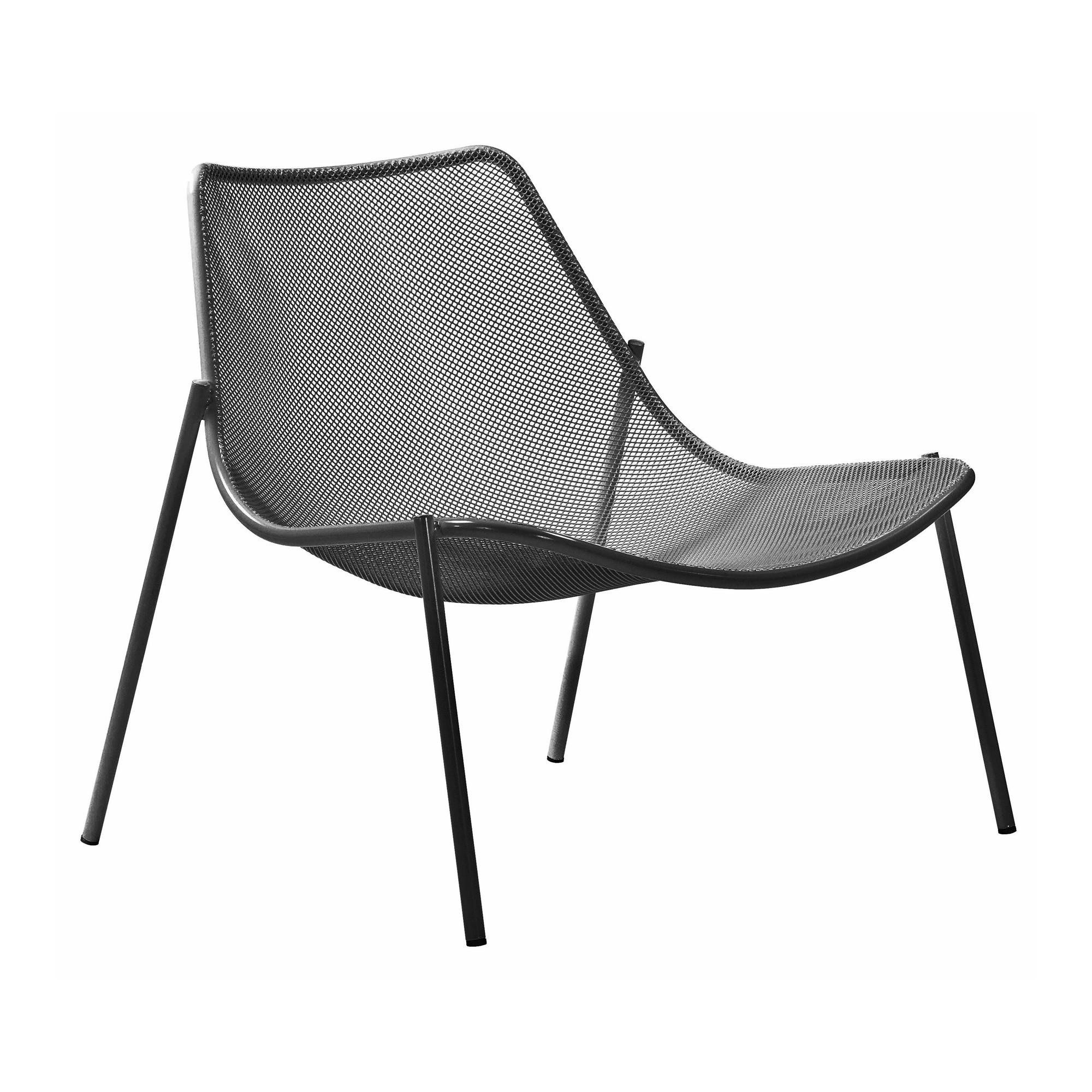 Emu   Round Outdoor Lounge Chair   White/powder Coated/WxHxD 92x84x87cm