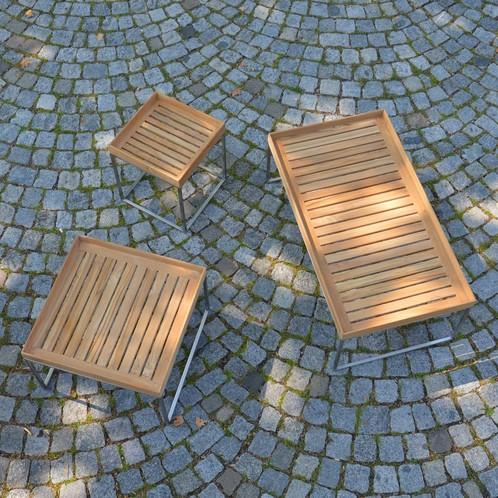 Jan Kurtz - Pizzo 60 Teakholz Garten-Beistelltisch