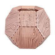 Tom Dixon - Etch Teelichthalter Holzmaserung - kupfer
