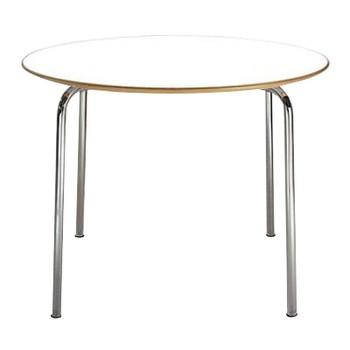 Kartell - Maui Tisch Rund - zinkweiß / HxØ72x100cm