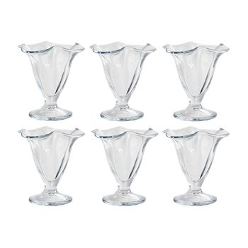 HAY - Kitchen Market Dessertglas 6er Set - transparent/H 12cm/Ø 11.5cm