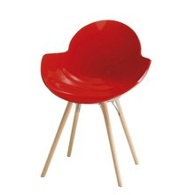 Infiniti - Cookie Stuhl mit Holzgestell