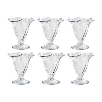 - Kitchen Market Dessertglas 6er-Set - transparent/H 12cm/Ø 11.5cm
