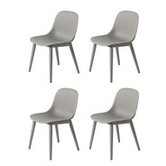 Muuto - Fiber Side Chair with Wood Base Set Of 4