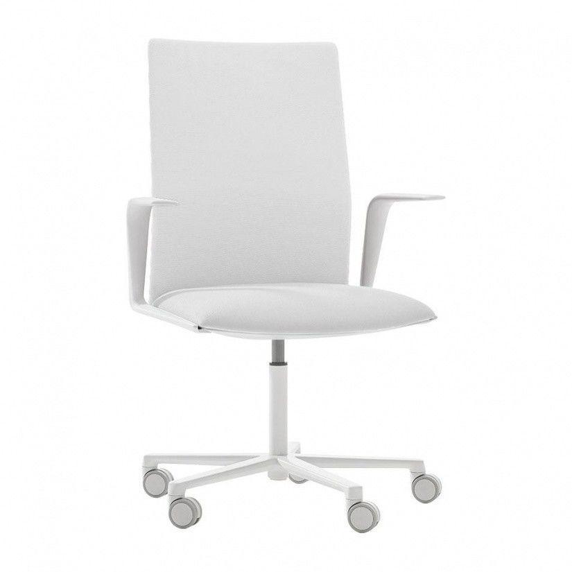 Bürostuhl Weiß Stoff
