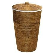 Decor Walther - Basket Rattan Laundry Basket - rattan dark