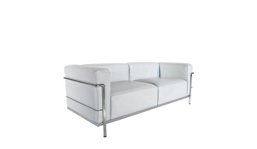 Charming ... Cassina   Le Corbusier LC3 Sofa Cassina   White/leather LCX  13X415/frame Chrome ...