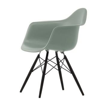 vitra eames plastic armchair daw black maple base ambientedirect