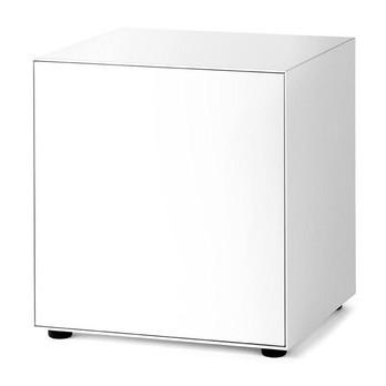 Piure - Nex Pur Box Türbox 60x77.5x48cm - weiß/MDF matt lackiert/mit Gleitfüße/1 Fachboden/Türanschlag links
