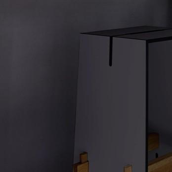 Conmoto - Tension Bar Tisch - anthrazit/teak/130x70x109cm