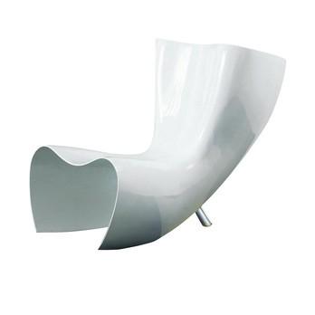 Cappellini - Felt Chair Sessel - weiß/lackiert