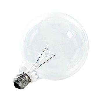 QualityLight - AGL E27 Globe R120 100W - klar/Glas/Energieeffizienzklasse e/Gewichteter Energieverbrauch 100 kW/1000 h