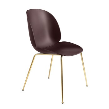 Gubi - Beetle Dining Chair Gestell Messing