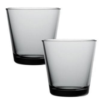 iittala - Kartio Gläser 2 Stück - grau/21cl