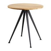 HAY - Table structure noir Pyramid 21 Ø70cm