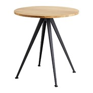HAY - Pyramid Café Table 21 Black Base Ø70cm