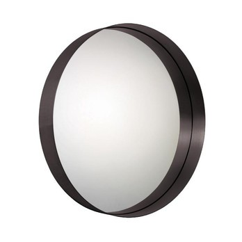 ClassiCon - Cypris Wandspiegel rund - Messing brüniert/Kristallglas/Ø75cm/tief 10cm
