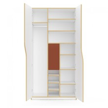 Müller Small Living - Plane Wardrobe 100x60x200cm Configuration 3