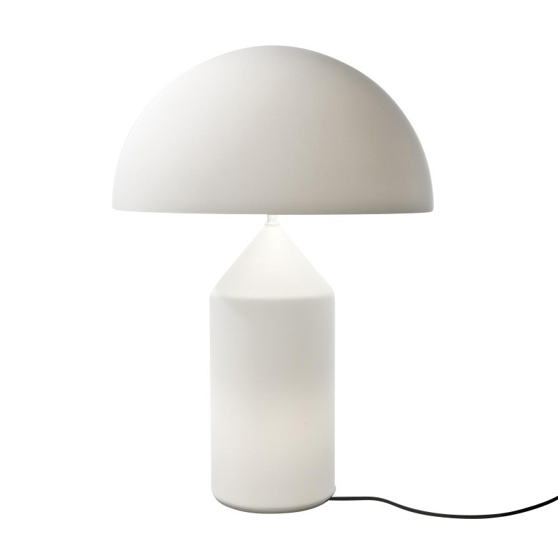 Oluce Atollo Lampe De Table Blanc Ambientedirect