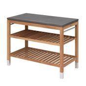 Skagerak - Pantry Module 2 Garten-Regal - anthrazit teak/Faserbeton/114x60x91,5cm